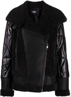 Karl Lagerfeld Paris Faux-Fur Biker Jacket