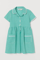 H&M Checked Cotton Dress - Green