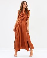 Shona Joy Solar Ruffle Midi Dress