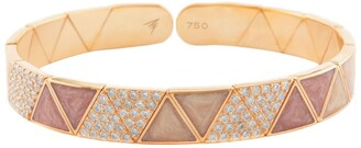 Alessa Rose Gold and Diamond Elixir Continuity Binary Bracelet