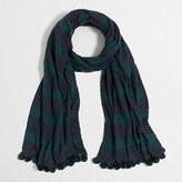 J.Crew Factory Plaid pom-pom scarf