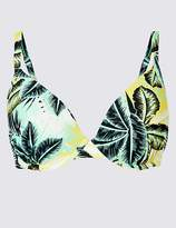 Marks and Spencer Palm Print Plunge Bikini Top A-G