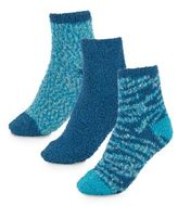 Ellen Tracy Three-Pack Solid & Patterned Ankle Socks