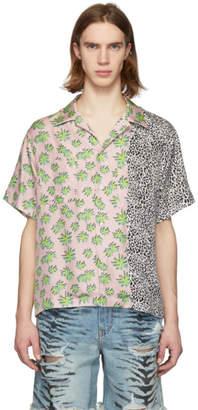 Amiri Pink Split Palm Leopard Shirt
