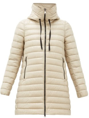 Moncler Rubis Longline Hooded Down-filled Coat - Womens - Beige