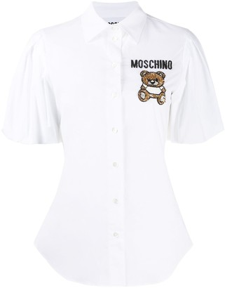 Moschino embroidered Teddy Bear shirt