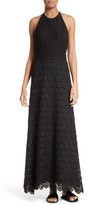 Theory Women's Elizabetha Lace Maxi Dress
