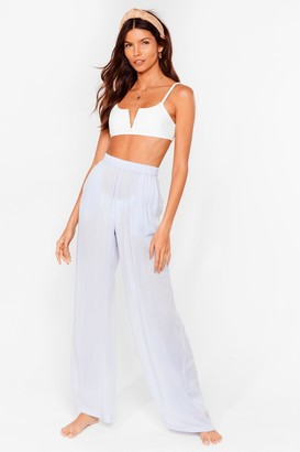 Nasty Gal Womens Long Line No Sea Cover Up Trousers - Green - 6