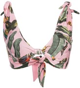 PatBO Tropical Knotted Bikini Top
