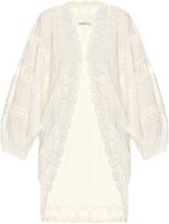 Mes Demoiselles Prunelle lace and cotton cover-up