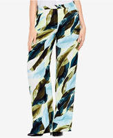 Vince Camuto Leaf-Print Wide-Leg Pants