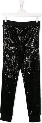 MSGM Kids sequin embellished leggings