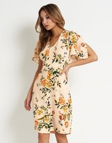 Closet Floral Frill Sleeve Dress