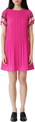 Maje Rolini Pleated Short Dress