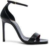 Saint Laurent Leather Amber Ankle Strap Heels