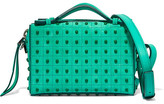 Tod's Bauletto Embellished Suede Shoulder Bag - Mint