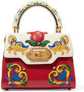 Dolce & Gabbana Welcome Small Embroidered Leather Tote