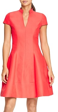 Halston Cap-Sleeve Skater Dress