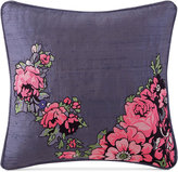 """Tracy Porter Nell Embroidered Faux-Silk 16"""" Square Decorative Pillow Bedding"""