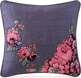 "Tracy Porter Nell Embroidered Faux-Silk 16"" Square Decorative Pillow"