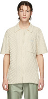 Off-White Off White  Cable Knit Short Sleeve Shirt