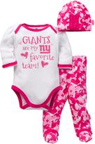 Gerber New York Giants Pink Footie Pants Set - Infant
