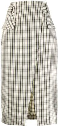 Gestuz Check Pattern Straight Skirt