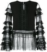 Jonathan Simkhai lace panel blouse - women - Silk/Polyamide/Polyester - L