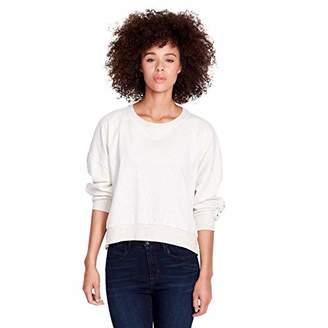 Skinnygirl Women's Kyle French Terry Pierced Rings Knit Sweatshirt