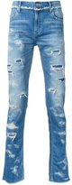 Christian Dada ripped slim-fit jeans