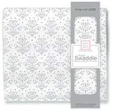 Swaddle Designs X-Large Cotton Muslin Swaddle Blanket, Sterling Lillie