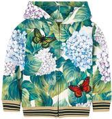 Dolce & Gabbana 'Ortensia' print zip hoodie