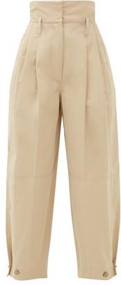 Givenchy High-rise Taffeta Trousers - Beige