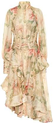 Zimmermann Espionage linen and silk dress