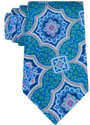 Geoffrey Beene Men's Medallion Culture Tie