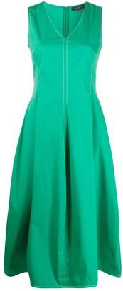 Antonelli Contrast Stitching Midi Dress