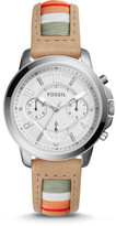 Fossil Gwynn Chronograph Striped Leather Watch