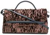 Zanellato ruched velvet shoulder bag