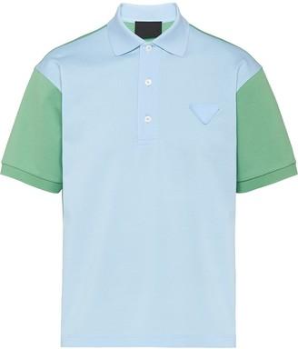 Prada Two-Tone Polo Shirt
