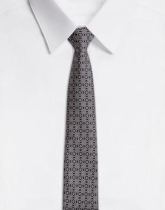 Dolce & Gabbana Silk Tie In Tie Print