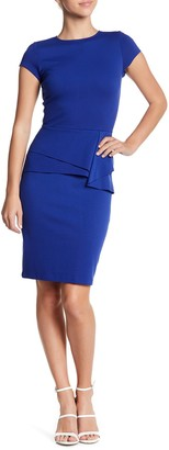 Love...Ady Ruffle Cap Sleeve Sheath Dress