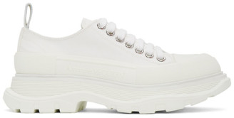 Alexander McQueen White Tread Slick Platform Low Sneakers