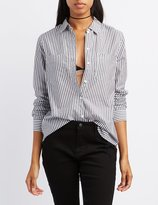 Charlotte Russe Striped Button-Up Shirt