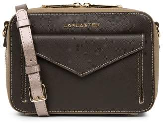 Lancaster Saffiano Signature Zipped Bag in Leather