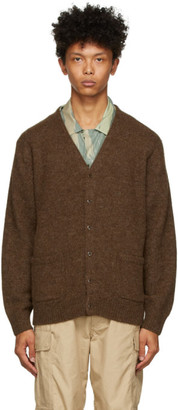 Beams Brown Alpaca 7G Cardigan