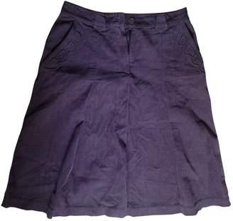 Ventilo Armand Purple Cotton Skirt for Women