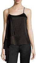 Alice + Olivia Lelah Side-Drape Camisole Top