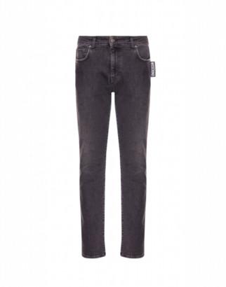 Moschino Black Denim Pants Big Label