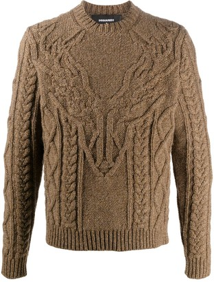 DSQUARED2 Dear Head Knitted Sweater