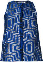 Cacharel sheer geometric pattern shirt - women - Silk/Nylon/Polyester - 38